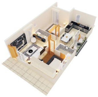 2BHK WEST FACING