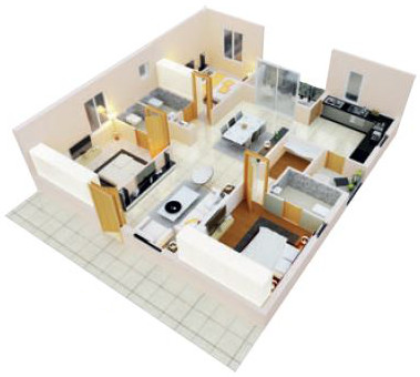 3BHK WEST FACING